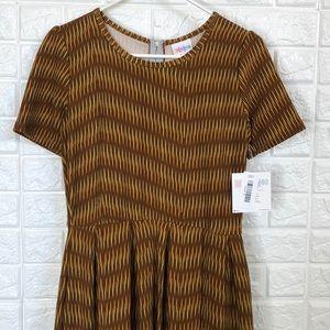 NWT LulaRoe Amelia bamboo weave print dress